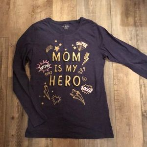 Girls navy long sleeve